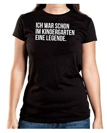 Certified Freak Ich War Schon IM Kindergarten eine Legende T-Shirt Girls  Black-S