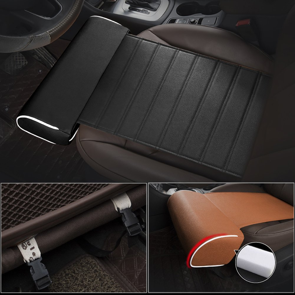 Universal Car Extended Seat Cushion with Comfort Leg Support Pillow//Leg Rest Cushion Foot Support Pillow for Long-Distance Driving