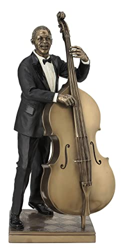 Double Bass Player Statue Sculpture Figurine – Jazz Band Collection
