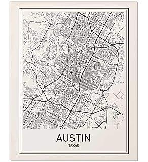 Amazon.com: Austin, TX ZIP Code Map Laminated: Home & Kitchen on
