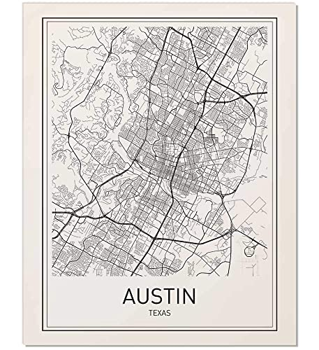 Amazon Com Austin Map Austin Map Print City Maps Map Print