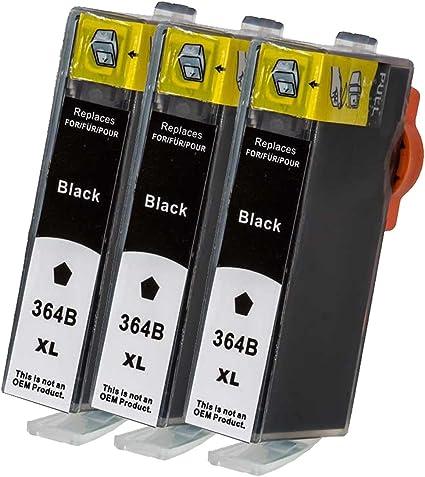 Premium 3 Pack – Cartuchos de Tinta para HP 364 X L 364 XL HP Deskjet: 3070/3070