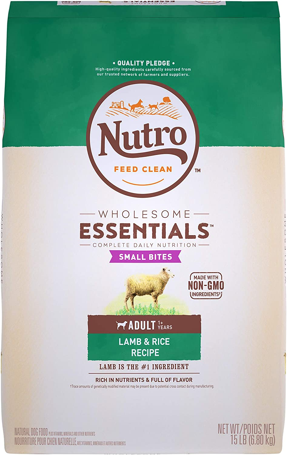 Nutro Wholesome Essentials Natural Adult Dry Dog Food – Lamb Rice