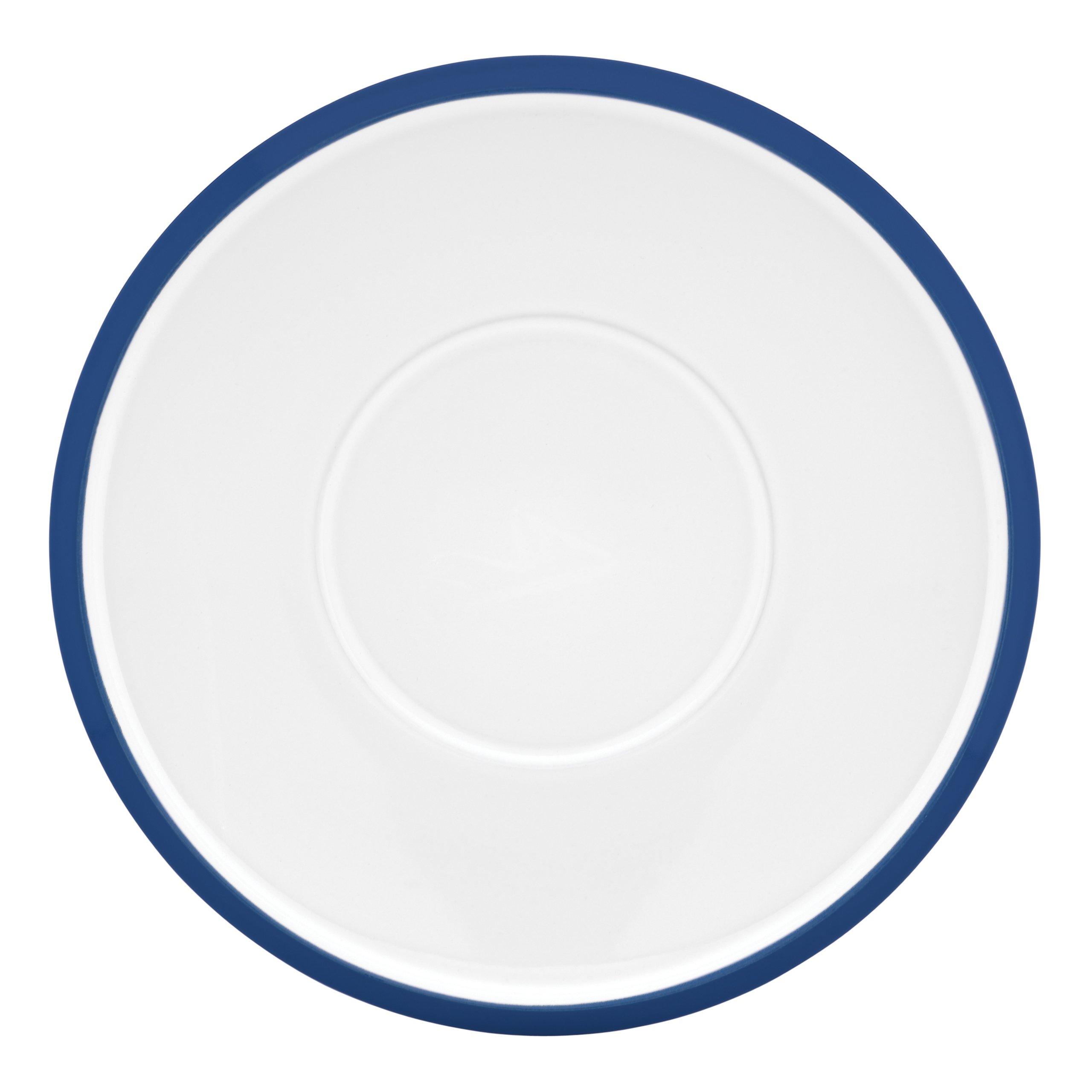 Dansk Kobenstyle 4-Piece Teacup Saucer Set, Chili Blue