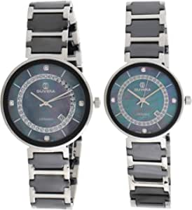 Olivera Casual Watch Set Analog for Unisex, Stainless Steel, OG1349