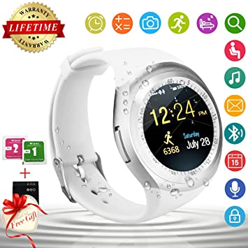 Smart Watch,Teléfonos Inteligentes Reloj Inteligente Bluetooth Smart Watch Reloj Inteligente Hombre Mujer Niño Reloj Deportivo Con Cámara Soporte SIM / TF ...