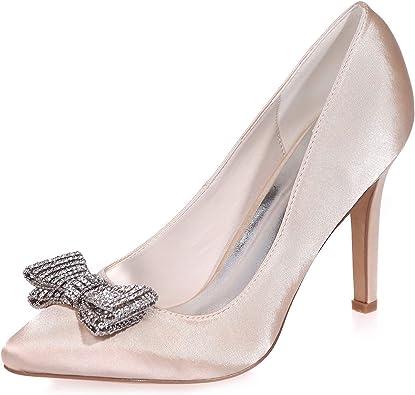 Satin PU Lace Evening Dance Shoes Peep-Toe Pump Sandals Women Formal Prom Shoes