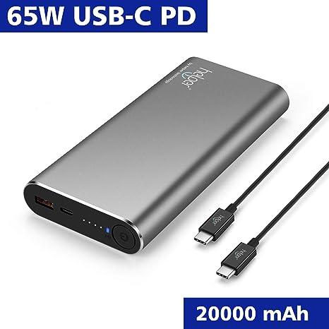 USB-C PD+QC 3.0 20000mAh 65W Cargador Portátil Batería ...