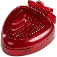 MSC International HIC Strawberry Slicer, Stainless Steel Wires, Large, Red