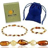 Baltic Amber Teething Necklace + Amber Teething