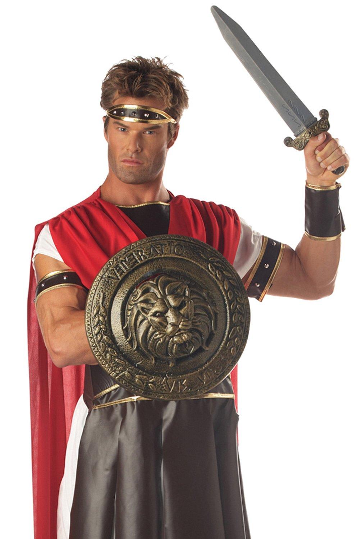 California Costumes Men's Gladiator Combat Shield & Sword 12'',Multi,One Size Costume Accessory