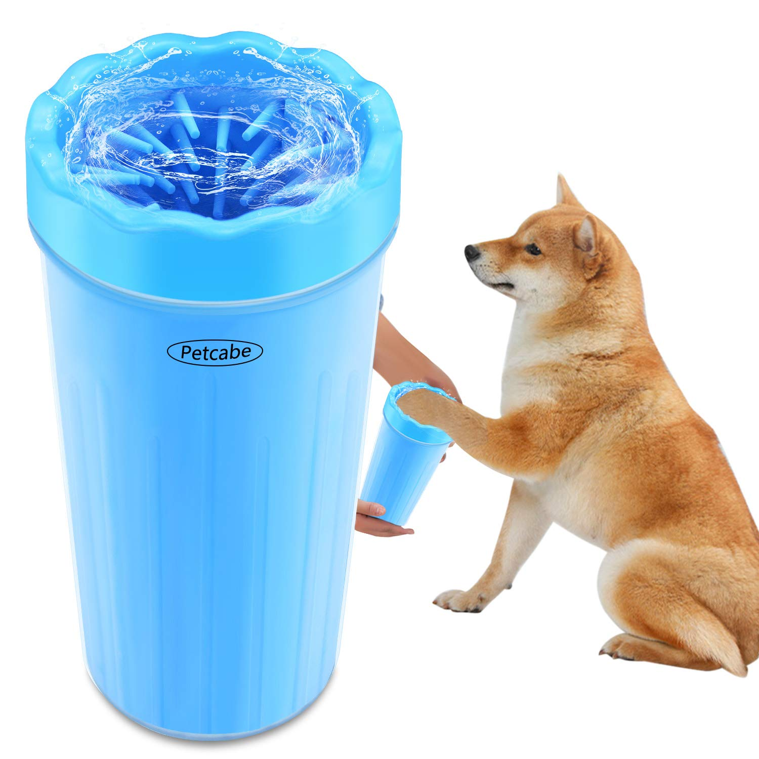 Petcabe Portable Dog Paw Cleaner Pet Cleaning Brush Cup Dog Foot Cleaner (Large)