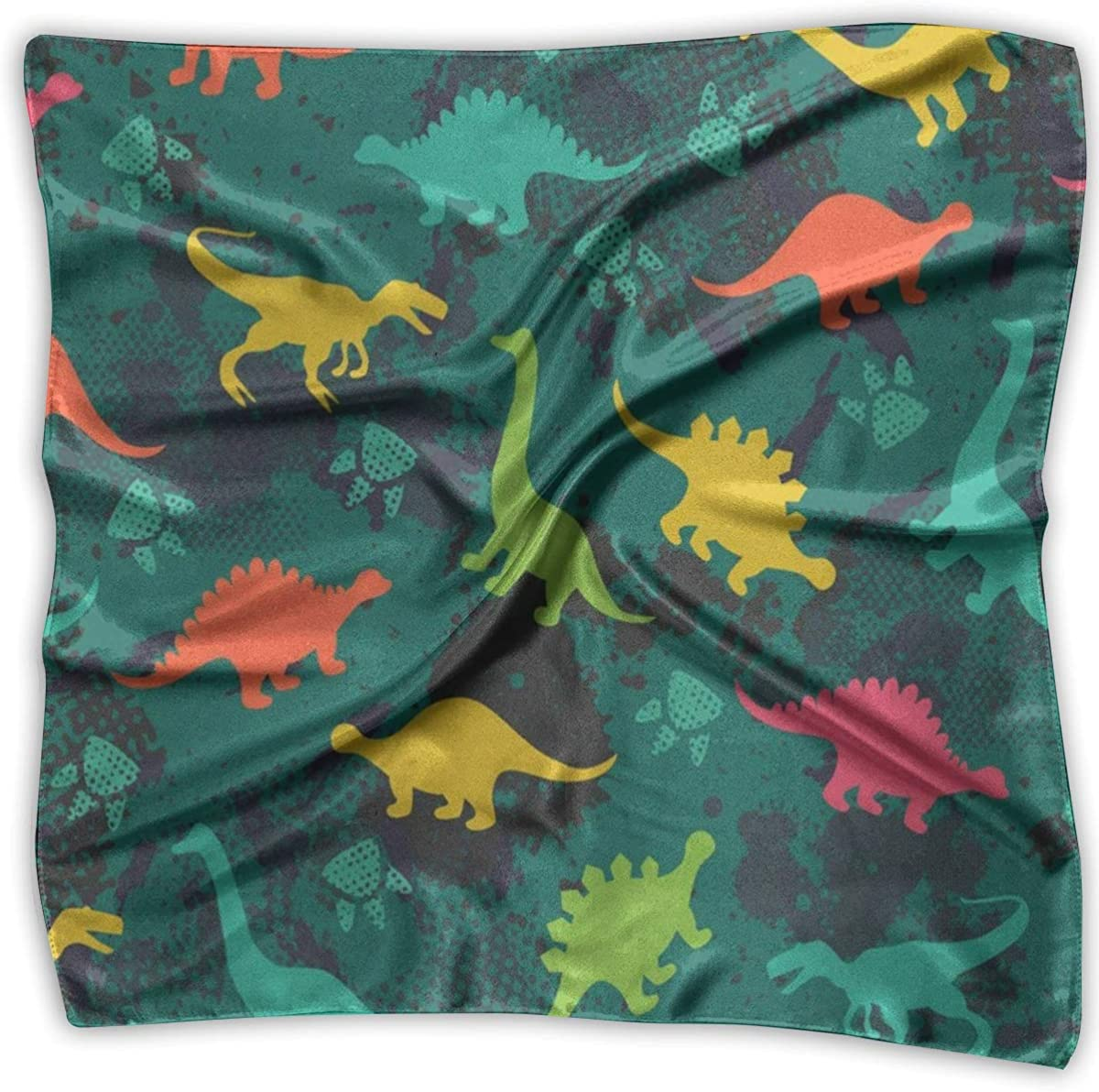 Voxpkrs Pañuelo cuadrado Dinosaurios de colores Pañuelo Unisex ...