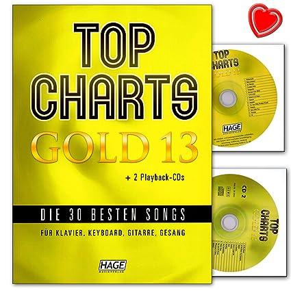 Top Charts Gold 13 – 30 mejores canciones para piano, teclado, guitarra y voz