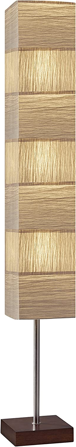 Adesso 8027-15 Sahara Tall Floorchiere, Brushed Steel