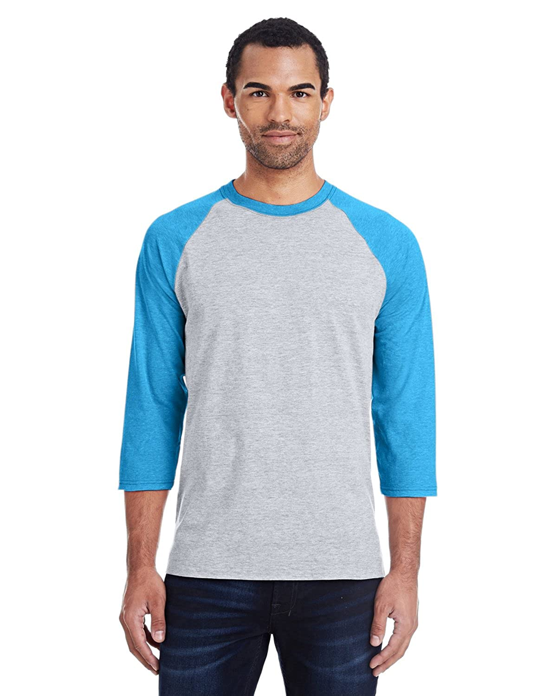657b4abcb4598d Hanes 42BA X-Temp Three-Quarter Sleeve Baseball T-Shirt