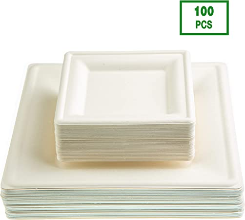 New Strong Plastic Plates Disposable 100 500 Bowls Large Small 23 9 18 7 15 6