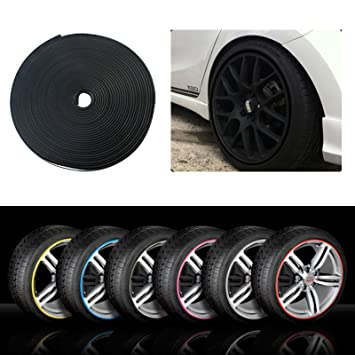METALIC SILVER NEW 2017 Rimblades Car Tuning Alloy Wheel Rim Protectors Tire Guard Line Rubber