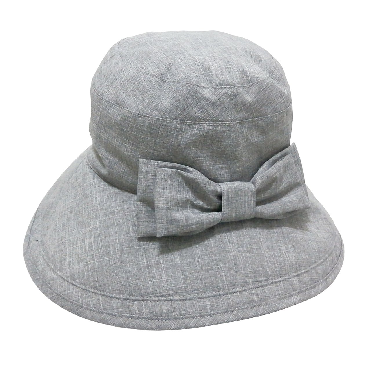 Rose Blanc(ロサブラン) 100%完全遮光 帽子 リボンハット13cm ダンガリー(ポケット付) B01EUBIBM8  ダンガリーグレー