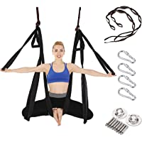 Arcfoxi Aerial Yoga Swing Set, Yoga Hammock, Trapeze Sling, Antigravity Ceiling Hanging Yoga Sling, Inversion Swing with Two Extender Hanging Straps