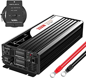 Xijia 2500W (Peak Power 5000W) Pure Sine Wave Inverter DC 48V to AC 120V 60HZ Solar Converter for Home Use car (DC48V (Range 40V-60V) 2500W)