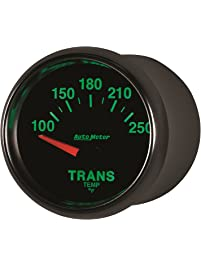 "Auto Meter 3849 GS 2-1/16"" 100-250 F Short Sweep Electric Transmission Temperature Gauge"