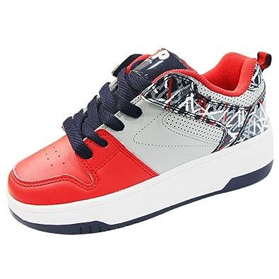 Heelys 771070P, Mädchen Lauflernschuhe Sneakers, Red/Grey/Navy - Größe: 34 EU