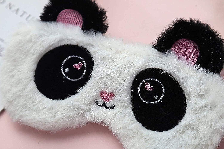 Laahoem Animal Sommeil Masque pour les Yeux Mignon Dr/ôle 3D Doux Moelleux Dessin Anim/é Masque Yeux pour Dormir Voyage Respirant Masque Yeux Enfants Adultes Femmes