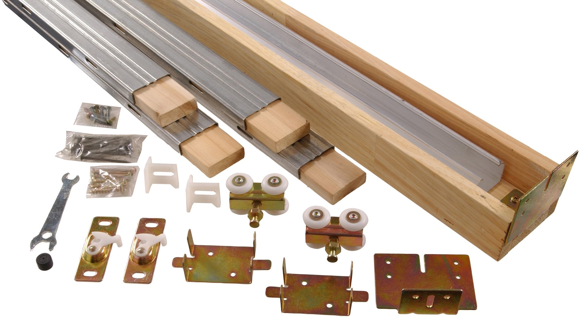 Hillman Hardware Essentials Pocket Door Hardware Set 24''-36'' Opening, 1-Kit