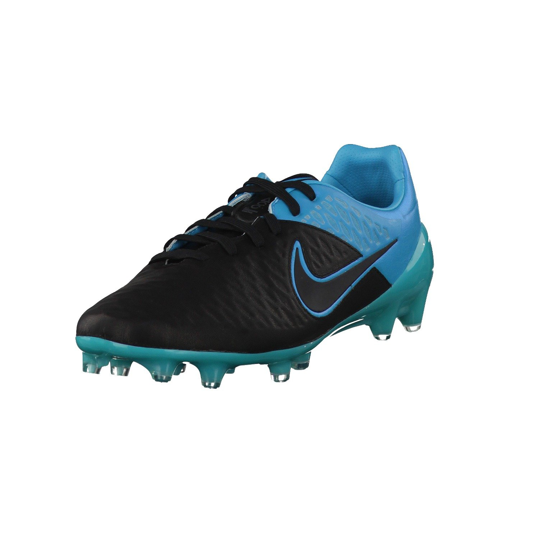 Nike Magista Opus Leather Black 768890 004 BLACK/BLACK-TRQS BLU Talla:45 45|- BLACK/BLACK-TRQS BLU