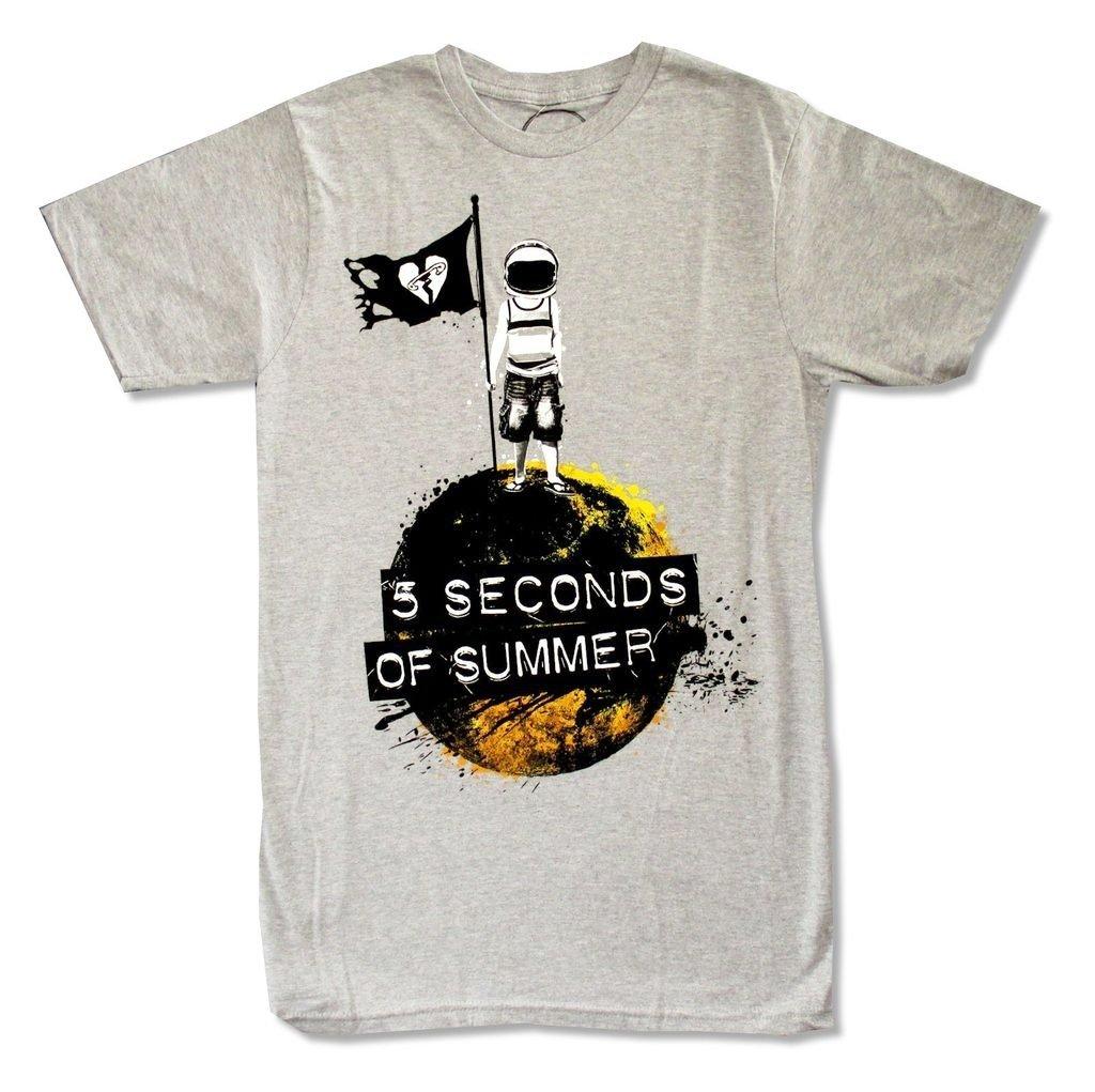 5 Seconds of Summer ''Astronaut'' Grey Adult T-shirt (3X)
