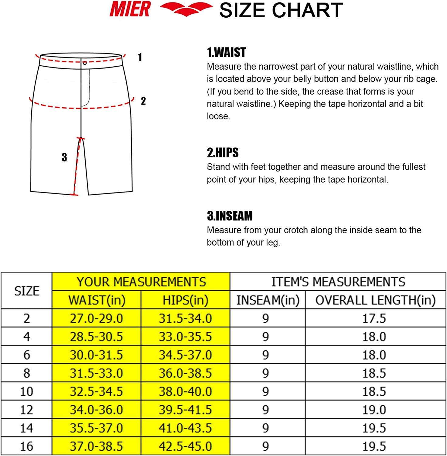 MIER Womens Nylon Hiking Shorts Quick Dry Outdoor Workout Cargo Shorts with 7 Pockets Water Resistant and Lightweight