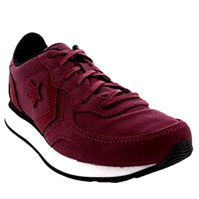 8276cacbfecd6d Converse Mens Auckland Racer Ox Canvas Burgundy Lace Up Casual Trainers -  Burgundy - 16