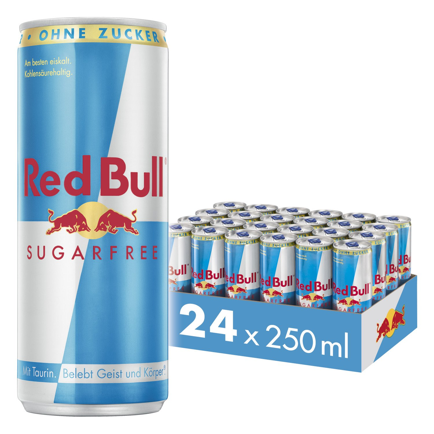 Red Bull Energy Drink Sugarfree 24 x 250 ml Dosen Getränke ...