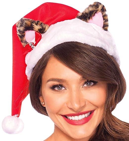 2f046794632ce Leg Avenue Women s Plus-Size Santa Kitty Plush Hat with Mini Bell Bow Adult  Costume