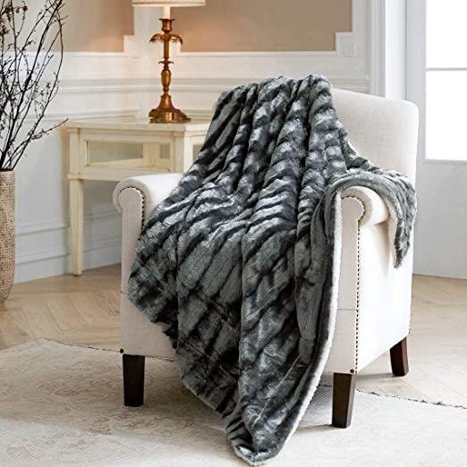 Large Luxury Plush Faux Fur Sherpa Fleece Throw Over Bed Blanket Runner Sofa