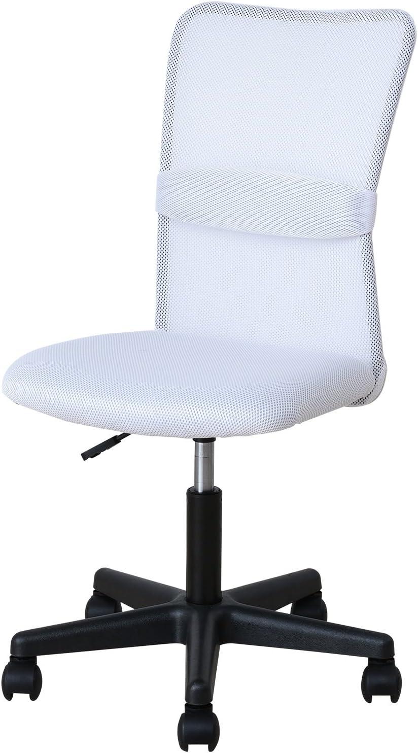 山善,オフィスチェア,メッシュ生地,白の椅子,ランバーサポート,綺麗な椅子,白,白の家具