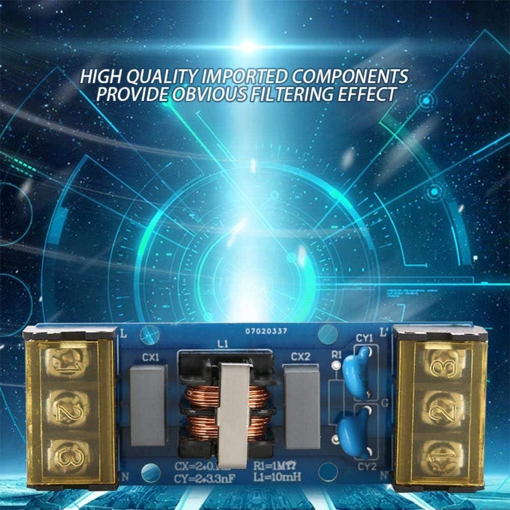 25A Placa de filtro de potencia de paso bajo de una etapa y alta frecuencia para fuente de alimentaci/ón 6A Tablero de filtro EMI 6A instrumento de medici/ón de precisi/ón
