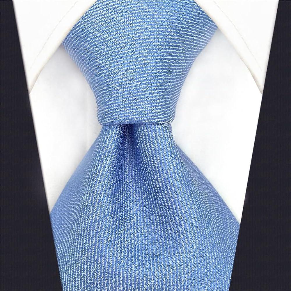 shlax&wing Baby Azul Color Sólido Corbatas Para Hombre Traje de ...