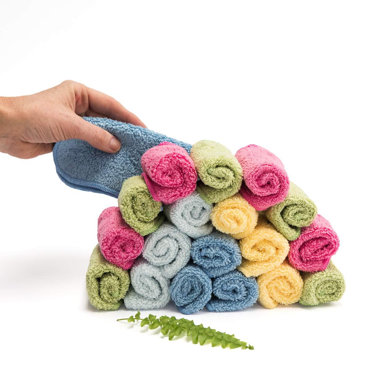 Cheeky Wipes Organic Premium Rainbow Zero Twist schwere Baumwollt/ücher 25 St/ück