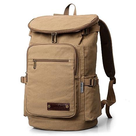 e78efea3b5 XINCADA Mens Vintage Backpacks Canvas Traveling Sports Outdoor Laptop  Backpack Bookbag Large  Amazon.ca  Clothing   Accessories