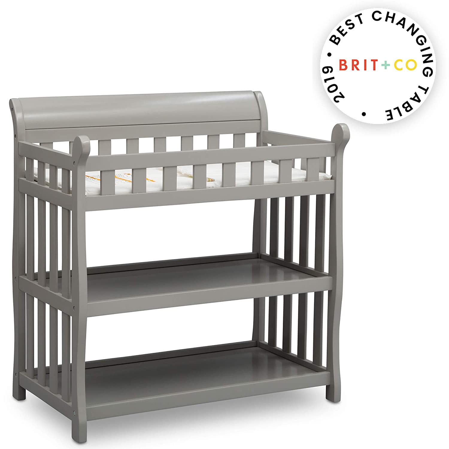 Delta Children Eclipse Changing Table, Grey