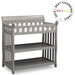 Delta Children Eclipse Changing Table, Grey