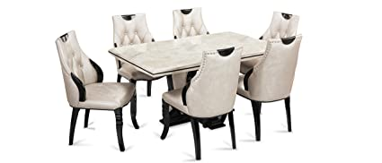 new style b2988 db6ca Durian Fisher Six Seater Dining Table Set (Glossy Finish ...