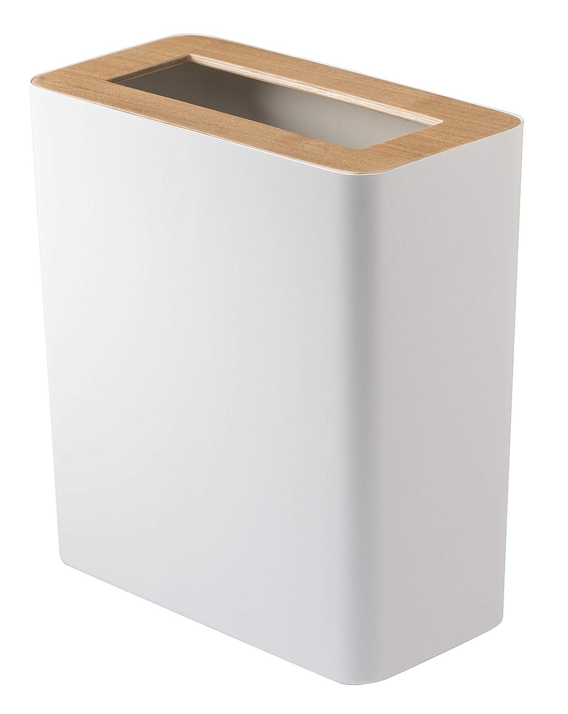 YAMAZAKI home 3196 Slim Trash Can, White