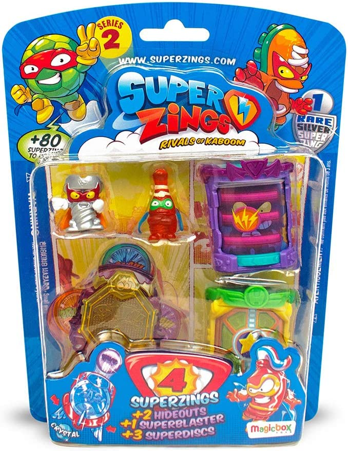 Superzings- Paquete de 4 con Figuras Varios Accesorios, Color surtido (Magic Box MBXPSZ2B416IN00): Amazon.es: Juguetes y juegos