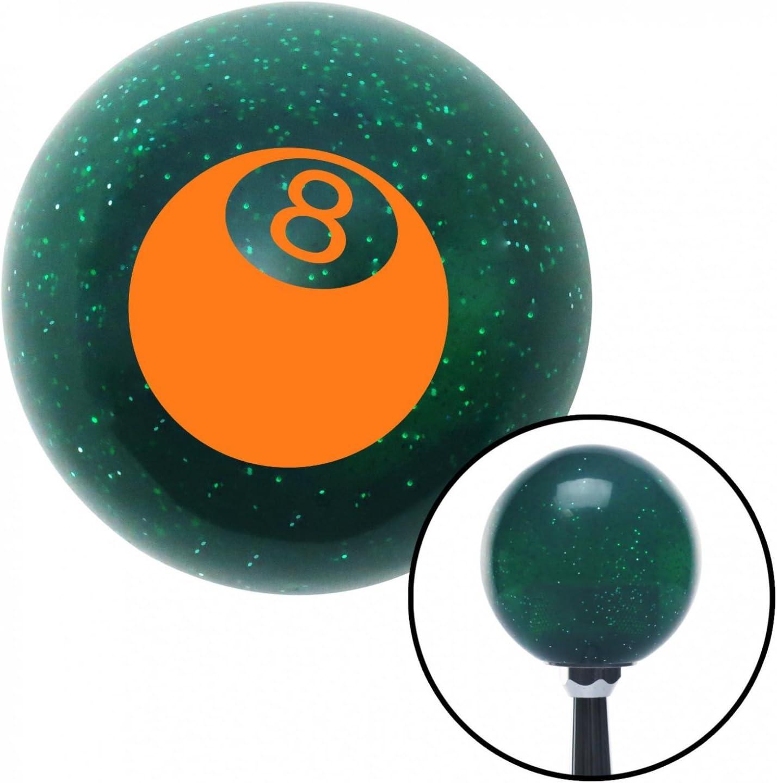Green 4 Speed Shift Pattern - 4RDL American Shifter 35985 Orange Metal Flake Shift Knob with 16mm x 1.5 Insert