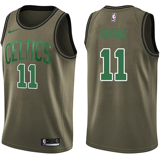 3629b239d Nike Men s Swingman Kyrie Irving  11 Boston Celtics Salute to Service Jersey  Green (XX