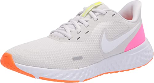 Nike Wmns Revolution 5, Zapatillas para Correr para Mujer, Platinum Tint/White/Pink Blast/Total Orange/Lemon Venom, 44.5 EU: Amazon.es: Zapatos y complementos