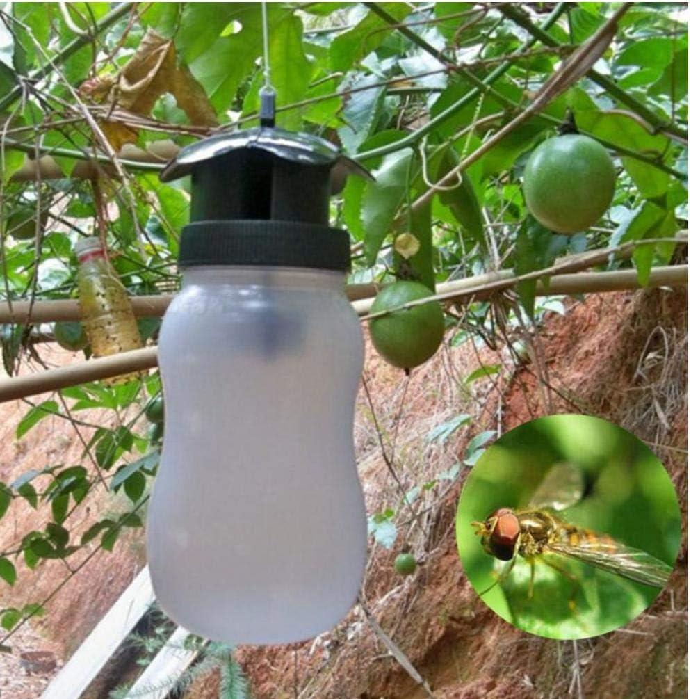 Zonster 1PC Mosca de la Fruta Trampa Trampa Insecticida Mosca de la Fruta Trampa La Trampa para Moscas Blanca al Aire Libre plástico Moscas Jardín de Insectos, 20 * 20 * 8.5cm